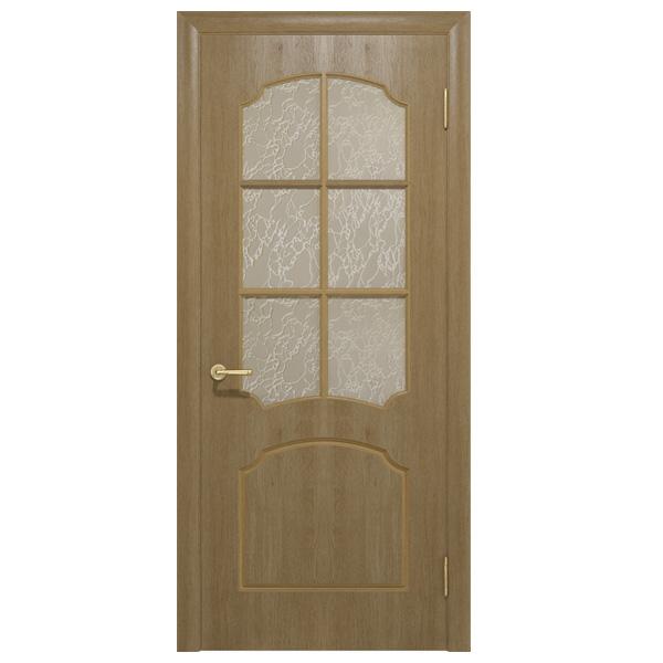Межкомнатная дверь Ваш Стиль Крона ПО (светлый орех)