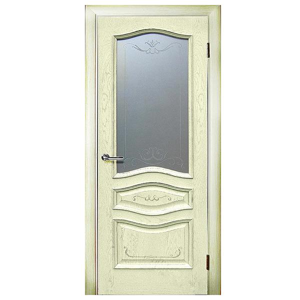 """Межкомнатная дверь Green Plant ПО """"Леона"""" (ваниль)"""