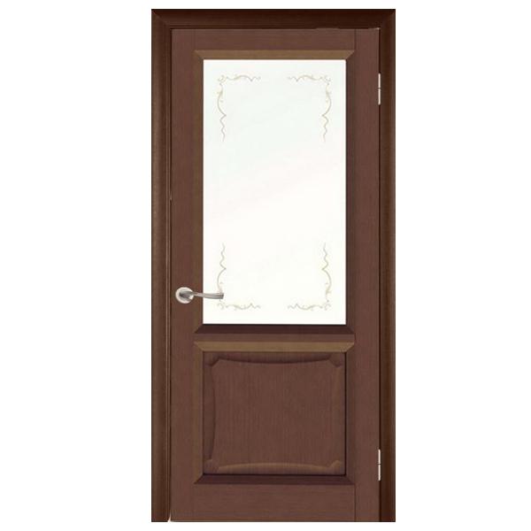"""Межкомнатная дверь Green Plant ПО """"Ника"""" (орех)"""