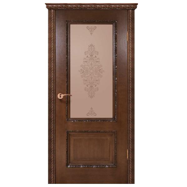 """Межкомнатная дверь Green Plant ПО """"Комплеана"""" (орех люкс)"""