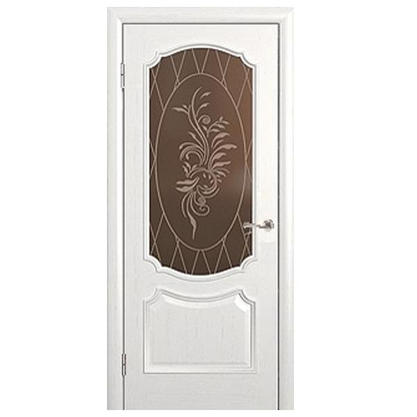 """Межкомнатная дверь Green Plant ПО """"Престиж"""" (слоновая кость)"""