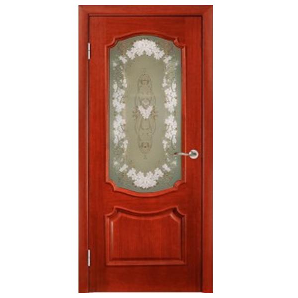 """Межкомнатная дверь Green Plant ПО """"Престиж"""" (красное дерево)"""