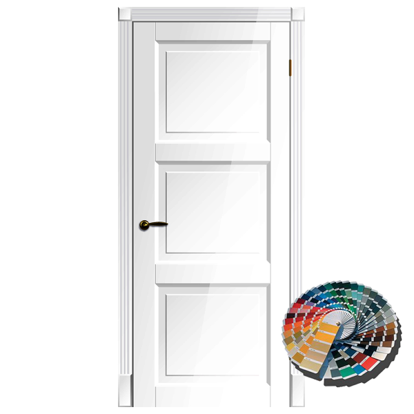Межкомнатная дверь Ваши Двери Рим ПГ (белая)