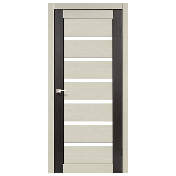 Межкомнатная дверь Корфад PC-01 (бел.дуб - венге)