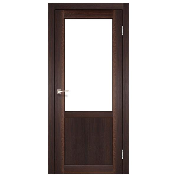 Межкомнатная дверь Корфад PL-02 (орех)
