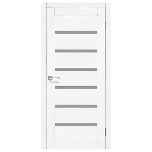 """Межкомнатная дверь Корфад """"PR-01"""" (белый ясень)"""