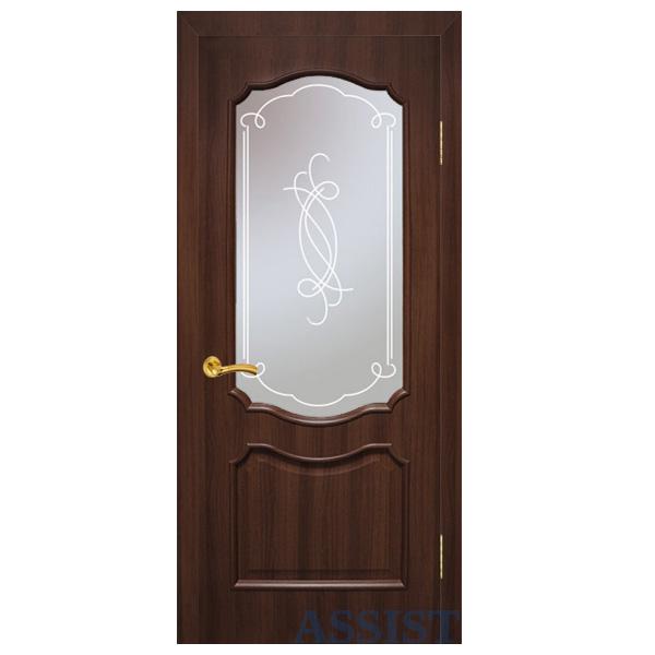 """Межкомнатная дверь Омис ПО """"Прованс"""" (каштан)"""