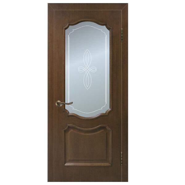 """Межкомнатная дверь Омис ПО """"Кармен"""" (орех)"""