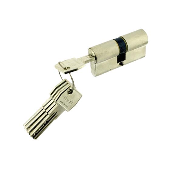 Цилиндр AGB Scudo 5000 60(30х30) ключ/ключ (хром)