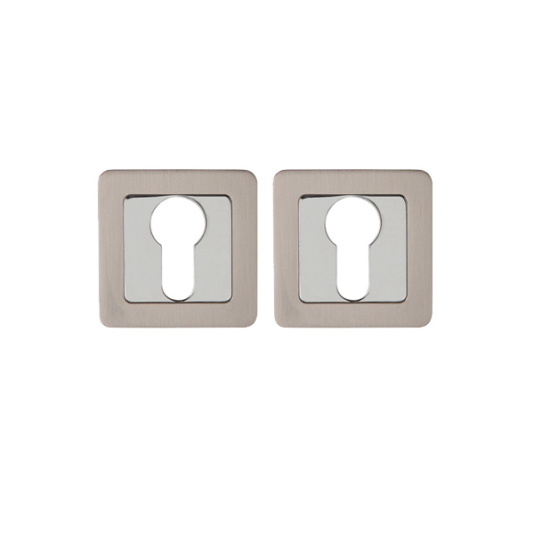Накладка на цилиндр Assist квадрат SN/CP (хром)