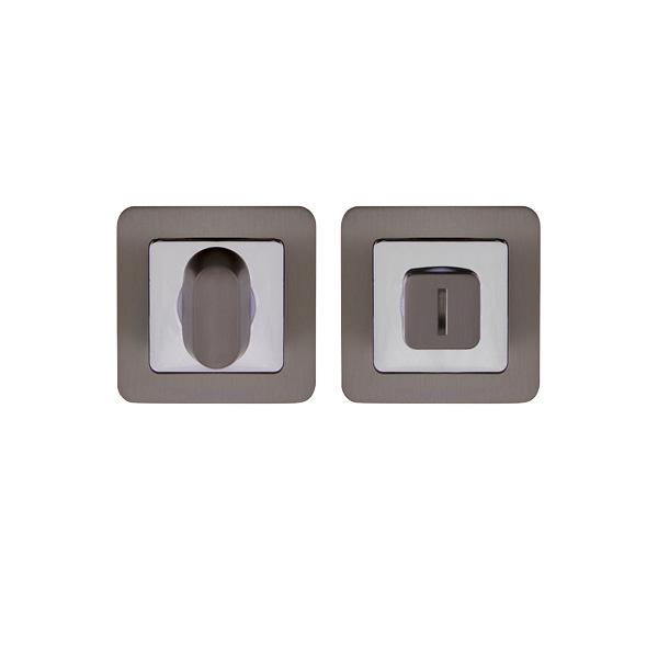 Фиксатор Assist WC квадрат GR/CP (графит/хром)