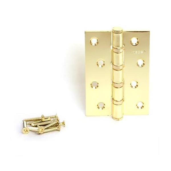 Петля APECS 100 мм G (золото)