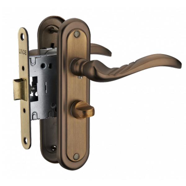 Дверная ручка Linde A-2001 WC MACC (старая бронза)