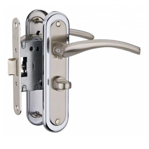Дверная ручка Linde A-2005 WC SN/CP (хром)