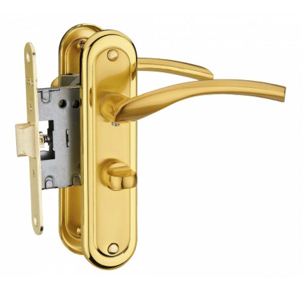 Дверная ручка Linde A-2005 WC PB/SB (золото)