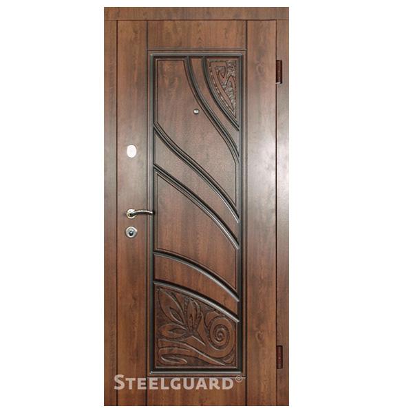 """Входная дверь Steelguard """"Spring"""" (Vinorit Nussbaum + патина)"""