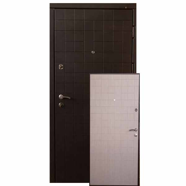 """Входная дверь VD """"Каскад"""" (венге тёмный/светлый)"""