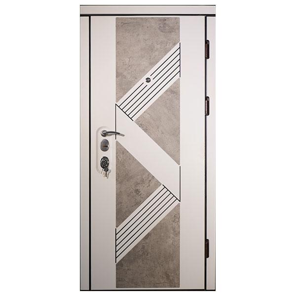 Входная дверь VD Верона Белая (патина)